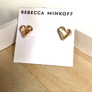 NWOT Rebecca Minkoff organic heart earrings
